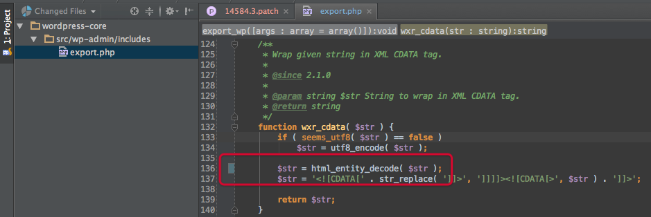 PhpStorm - Changed Files