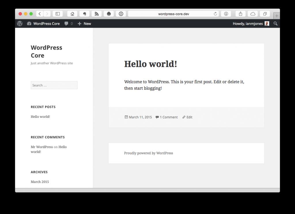 WordPress Core | Just another WordPress site