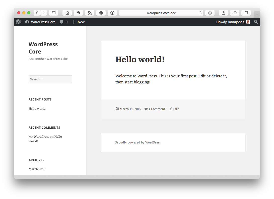 WordPress Core | Just another WordPress site
