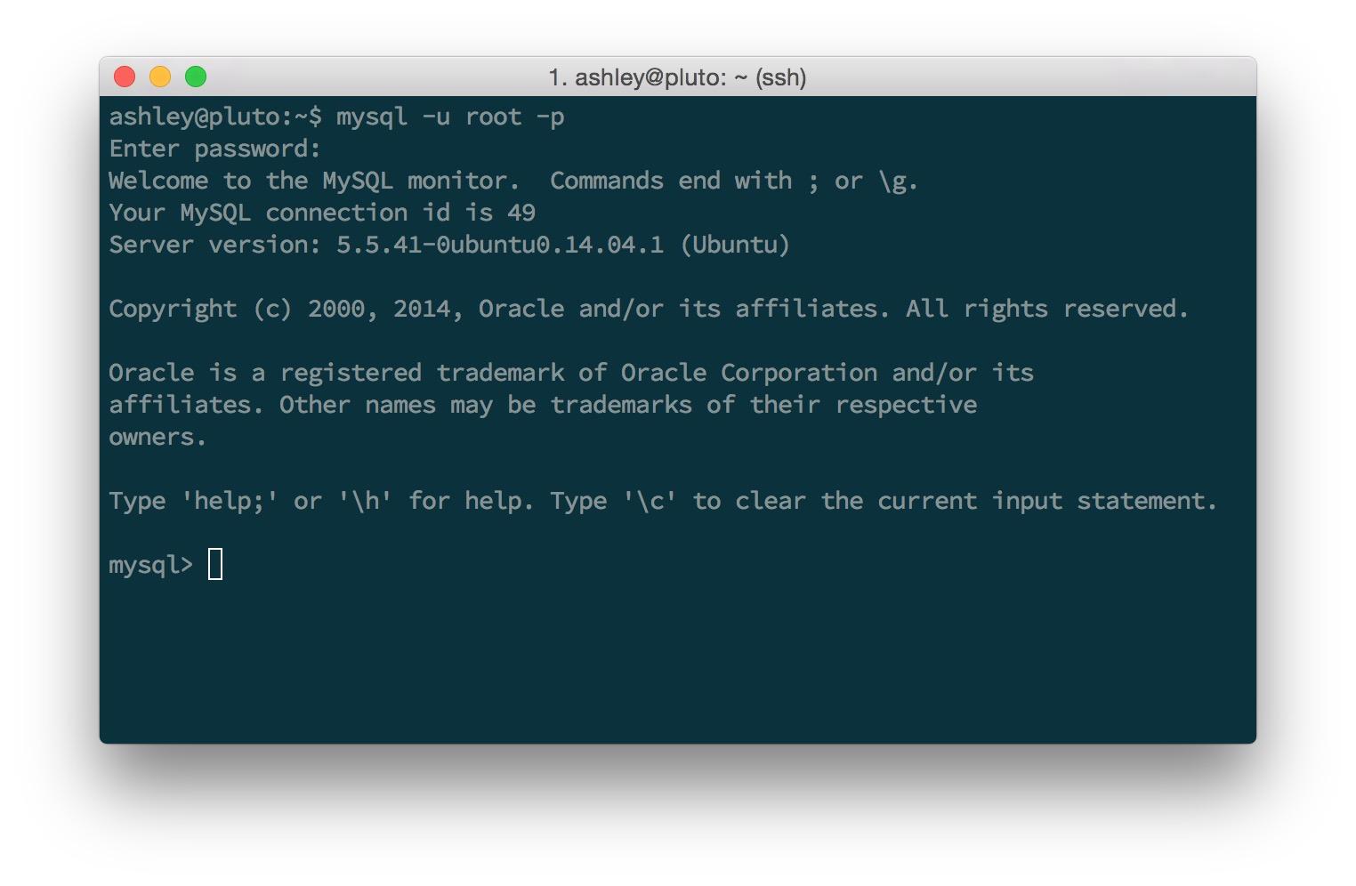 MySQL Command Line