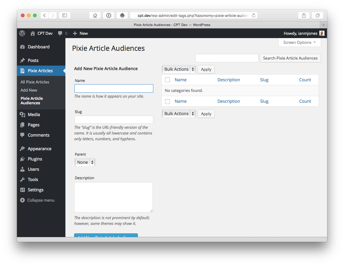 Pixie Article Audiences