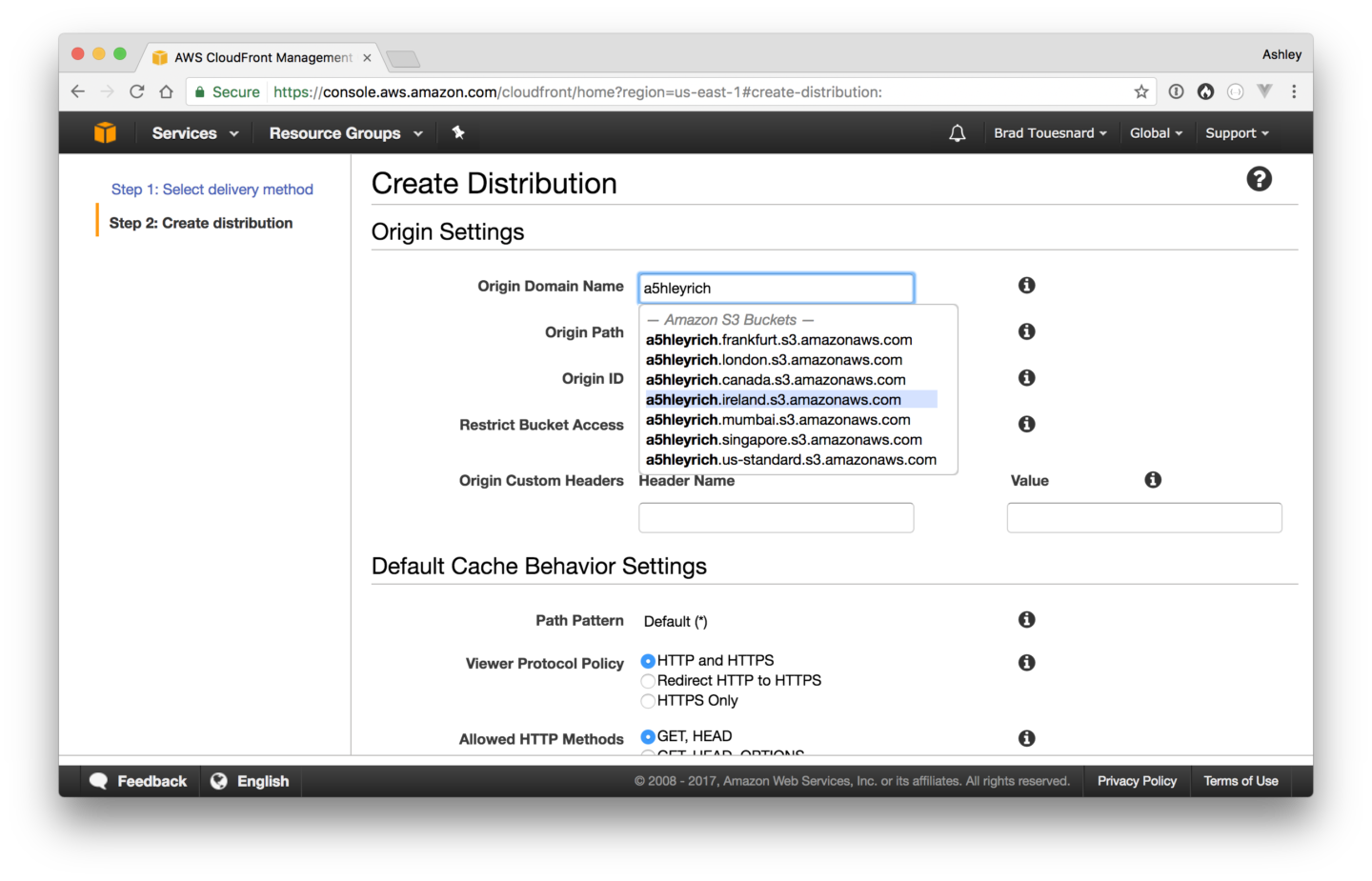 how to set up amazon cloudfront