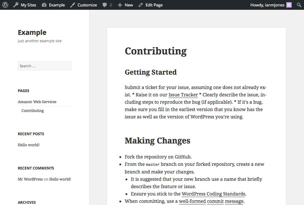 GitHub README - Markdown
