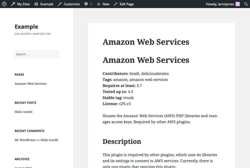 GitHub README - Simple Usage