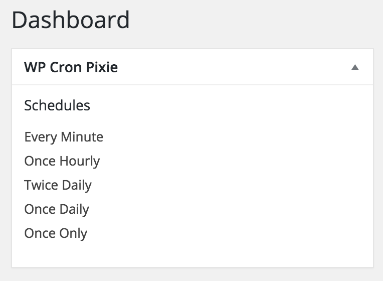 WP Cron Pixie - Vue.js First Steps