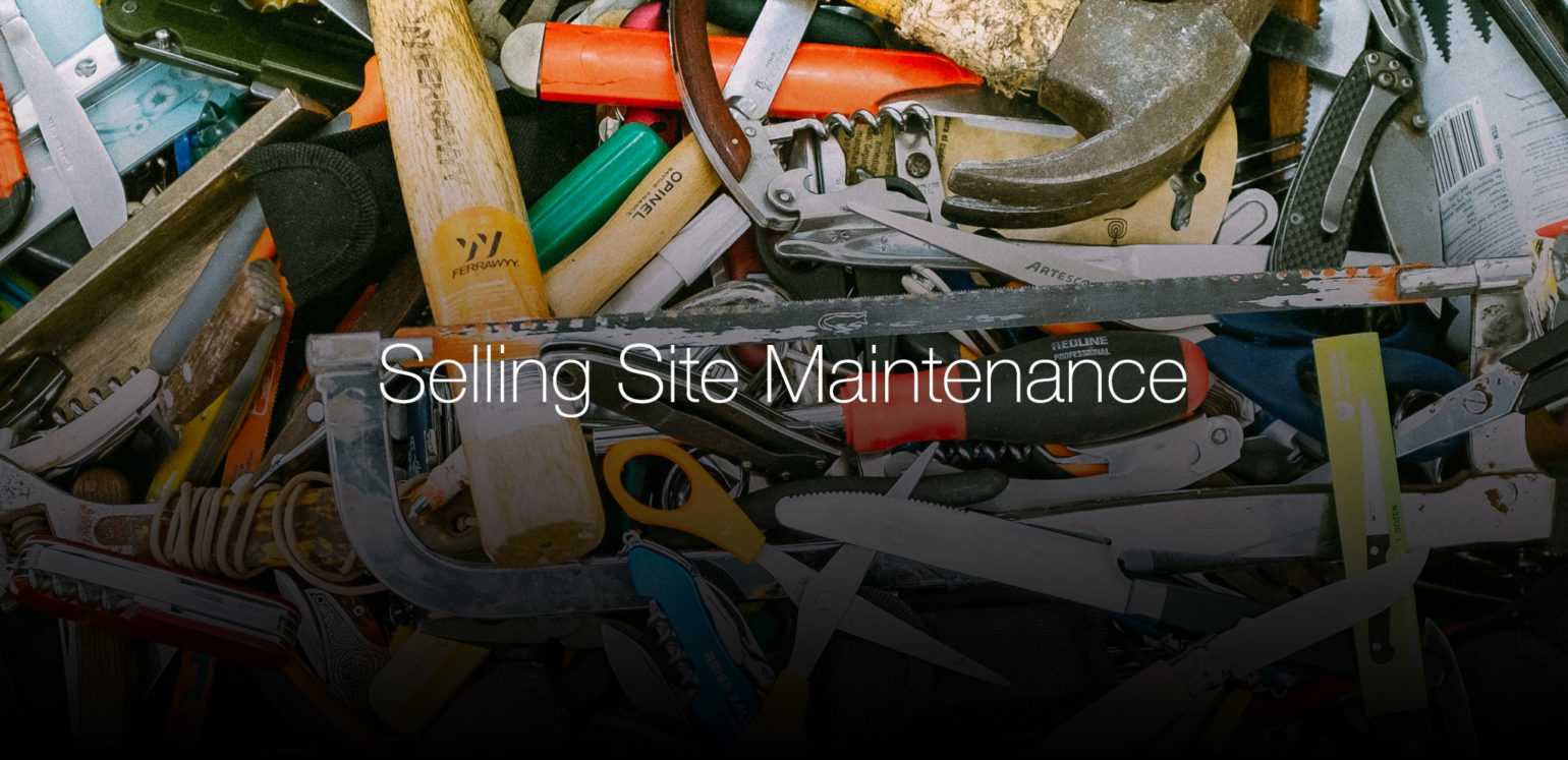 Hey WordPress Developers, Sell Maintenance Service with Your Sites