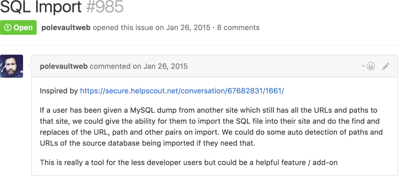 sql-import-github-issue
