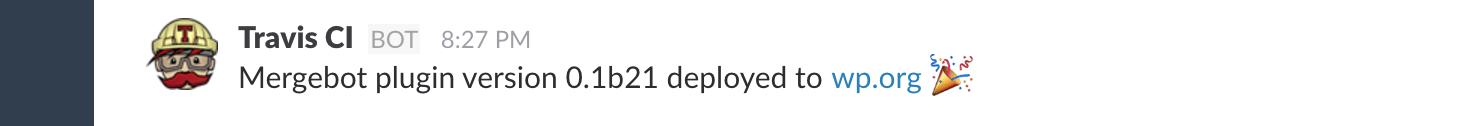 Travis Slack deployment notification