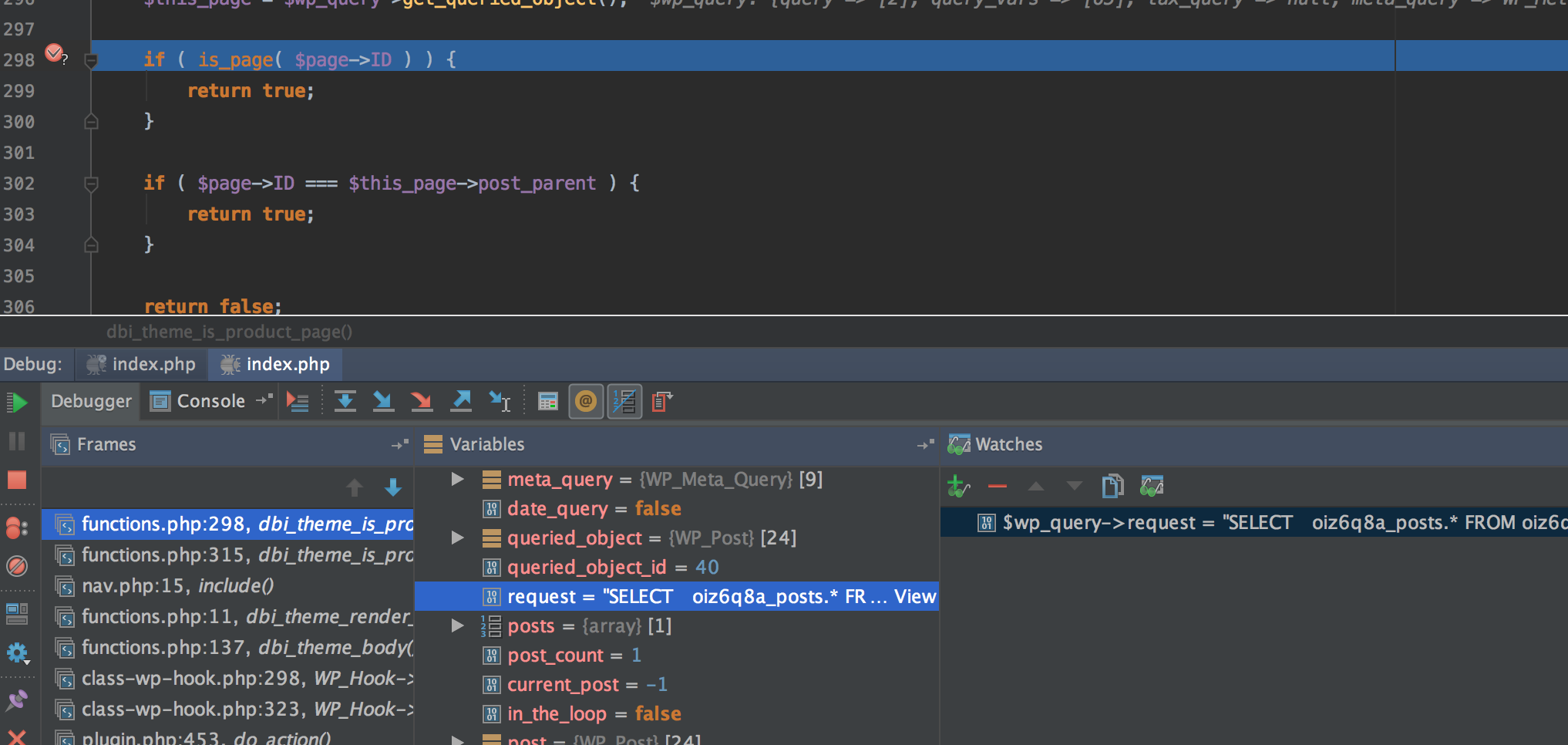 PhpStorm add variable to watch list