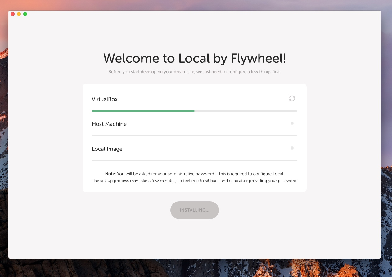 Local By Flywheel's installer