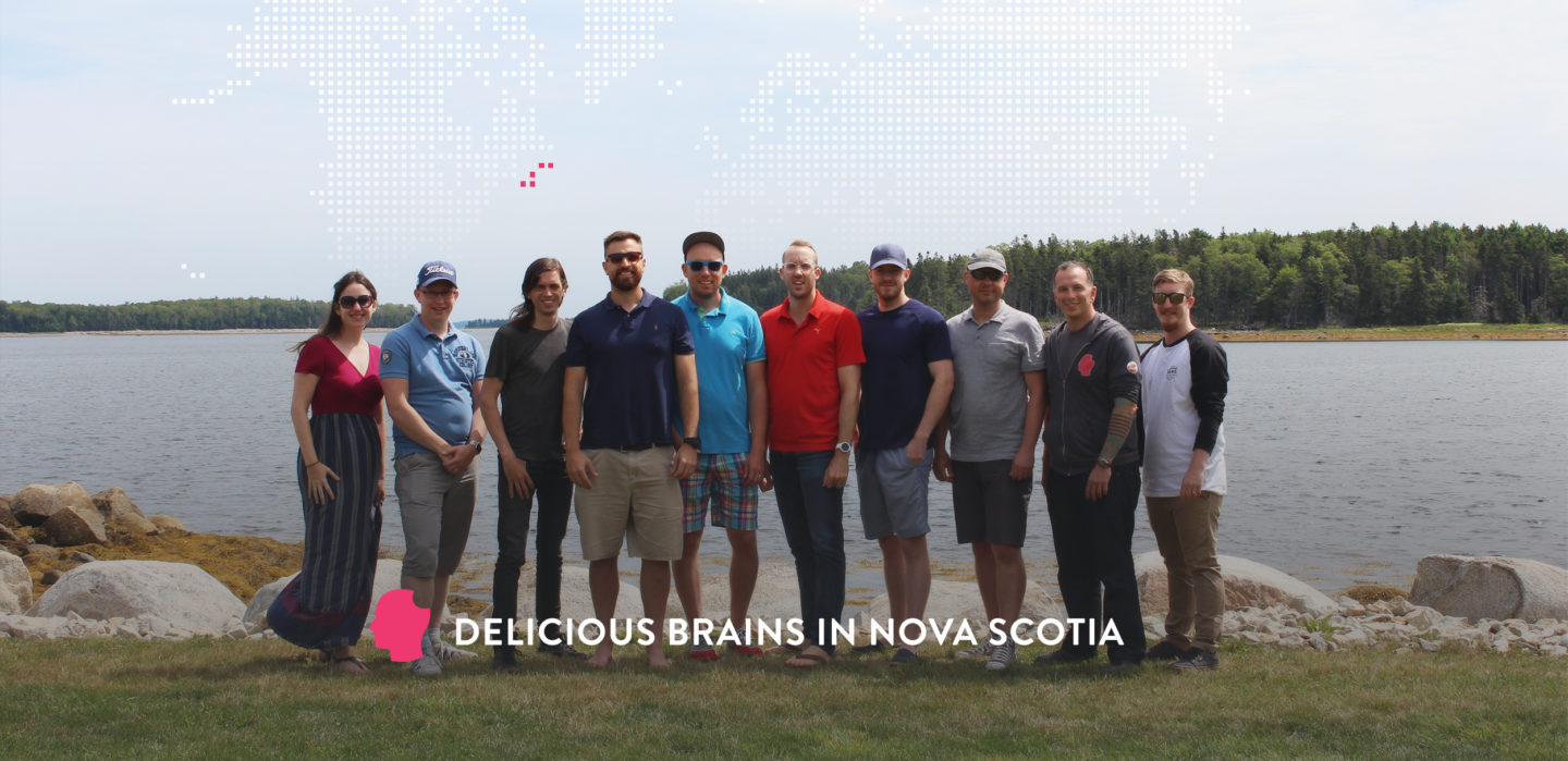 Photo of the Delicious Brains team in Nova Scotia