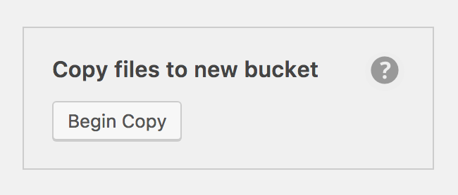 "Screenshot of ""Copy files to new bucket"" tool in sidebar"