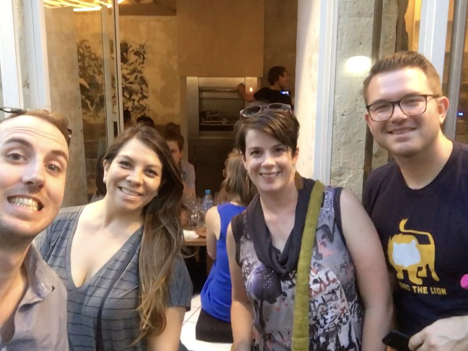 My wife and I with Cody and Raquel Landefeld