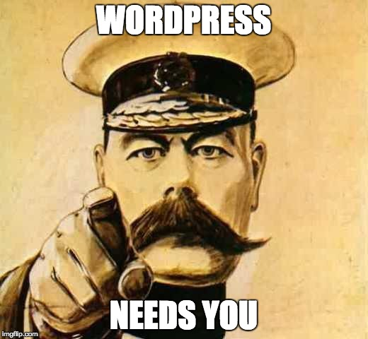 WordPress needs you meme