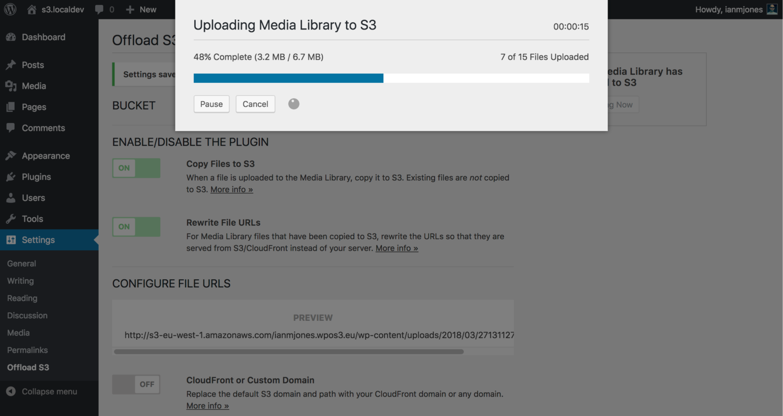 WP Offload S3 Uploading