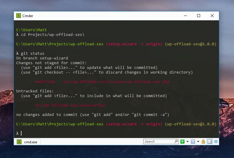 Cmder terminal emulator