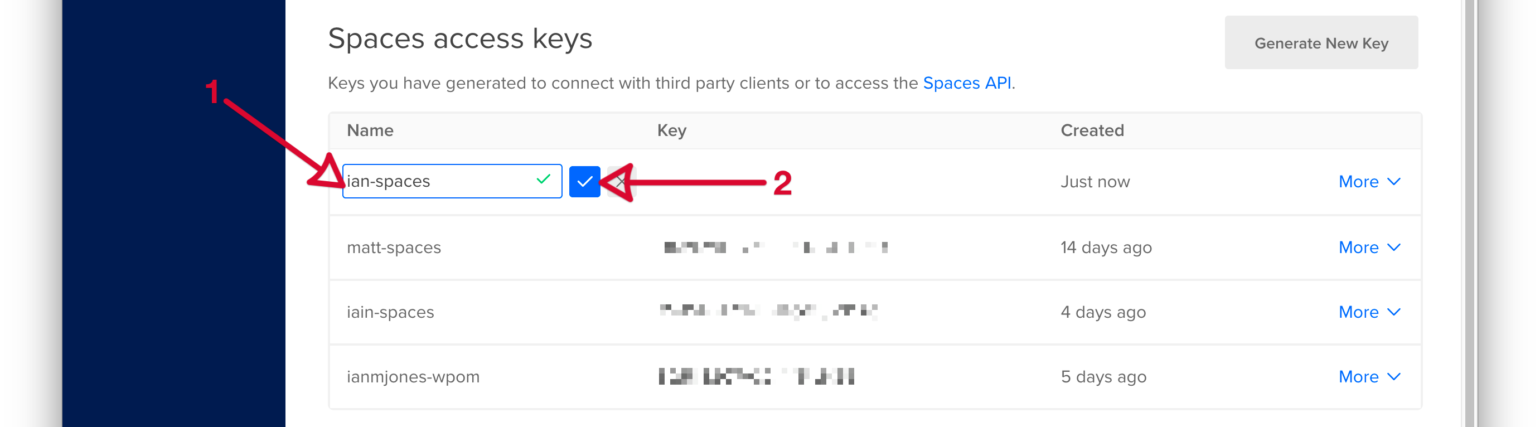 WP Offload Media - DigitalOcean Spaces Quick Start Guide - Name API Token