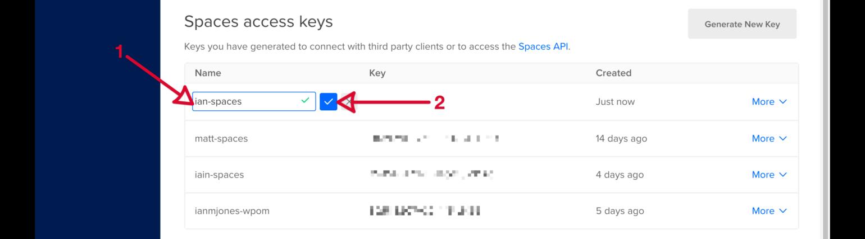 WP Offload Media - DigitalOcean Spaces Quick Start Guide - Name API Token
