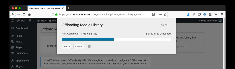 WP Offload Media Offloading