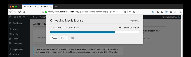 WP Offload Media Offloading - S3