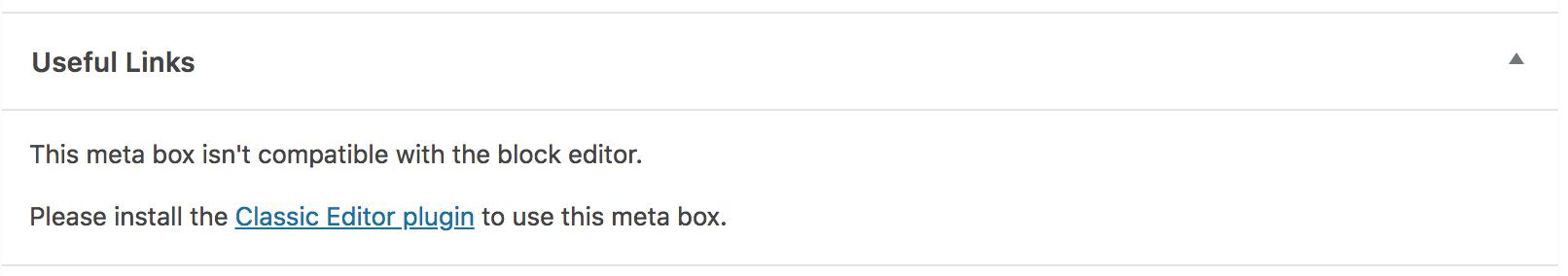 Incompatible custom meta box display