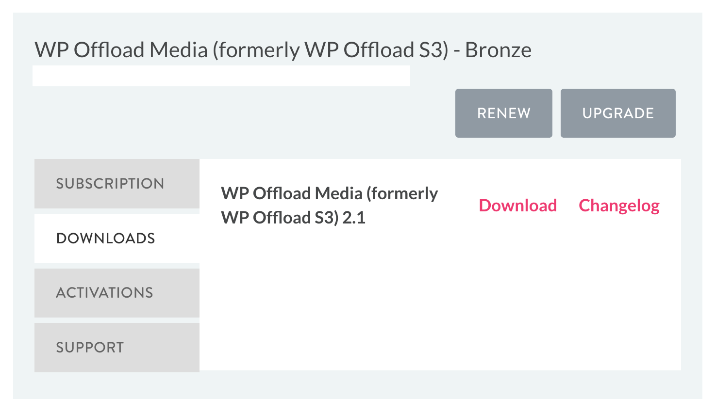 Download WP Offload Media from My Account