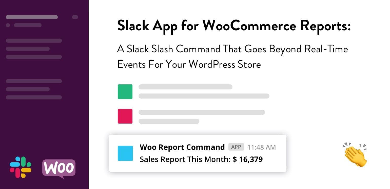 Slack App for WooCommerce Reports: A Slack Slash Command