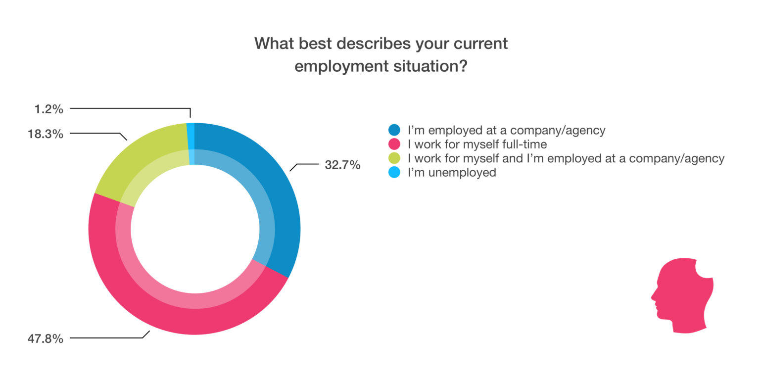 What best describes your current employment situation chart