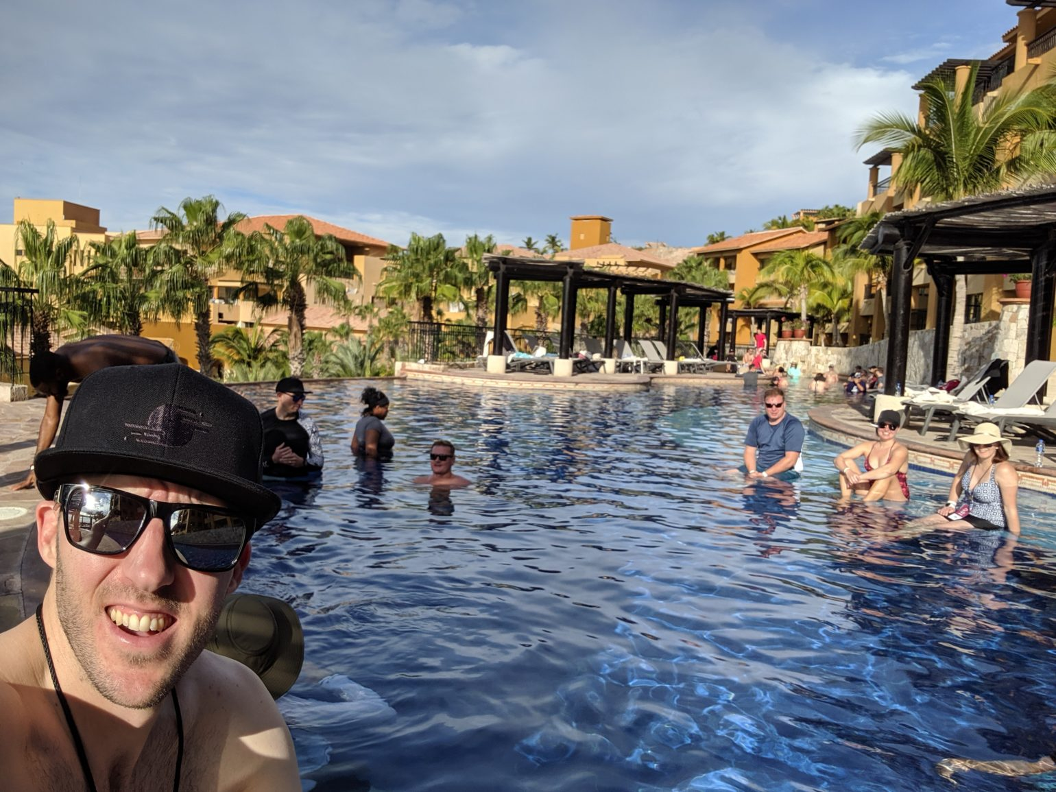 Photo of Brad in the pool