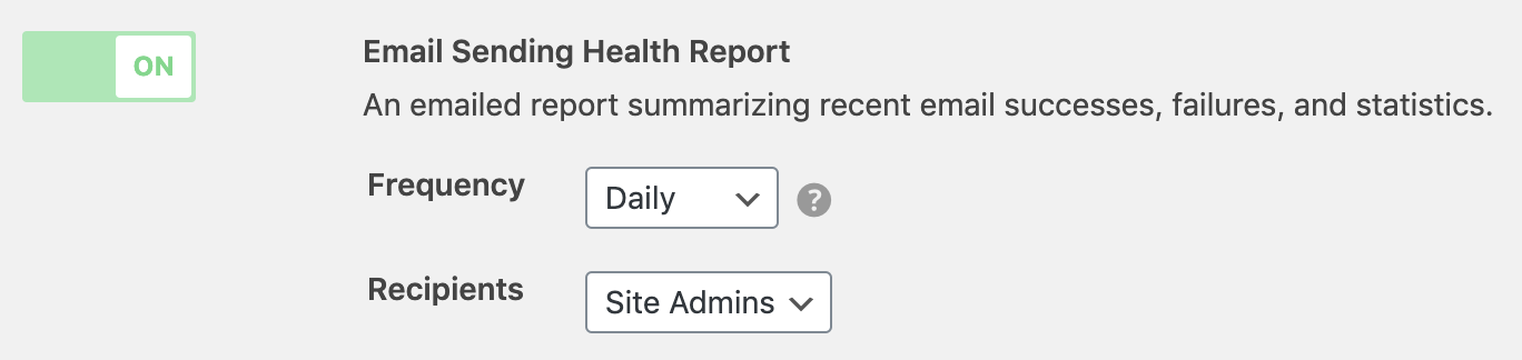 WP Offload SES Health Report setting
