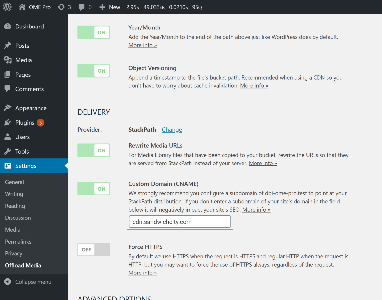 StackPath setup - Offload Media custom domain