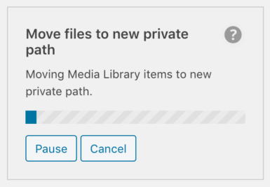 OME Signed CloudFront Setup - WP Offload Media's move private objects tool in progress