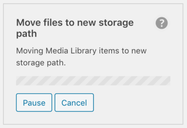 WP Offload Media's move public objects tool in progress