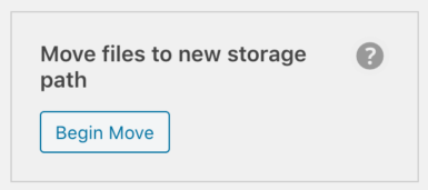 WP Offload Media's Move files to new storage path tool
