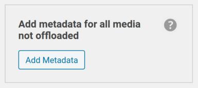 Add Metadata tool shown in sidebar