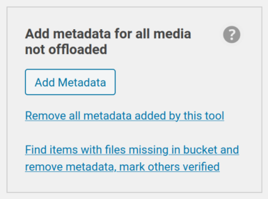 Add Metadata tool shown in sidebar with analyze and repair links