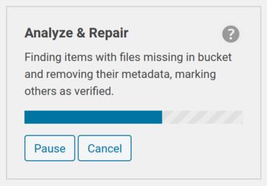Analyze and Repair for Add Metadata tool running