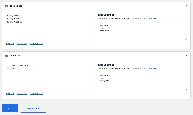 Theme & Plugin Files