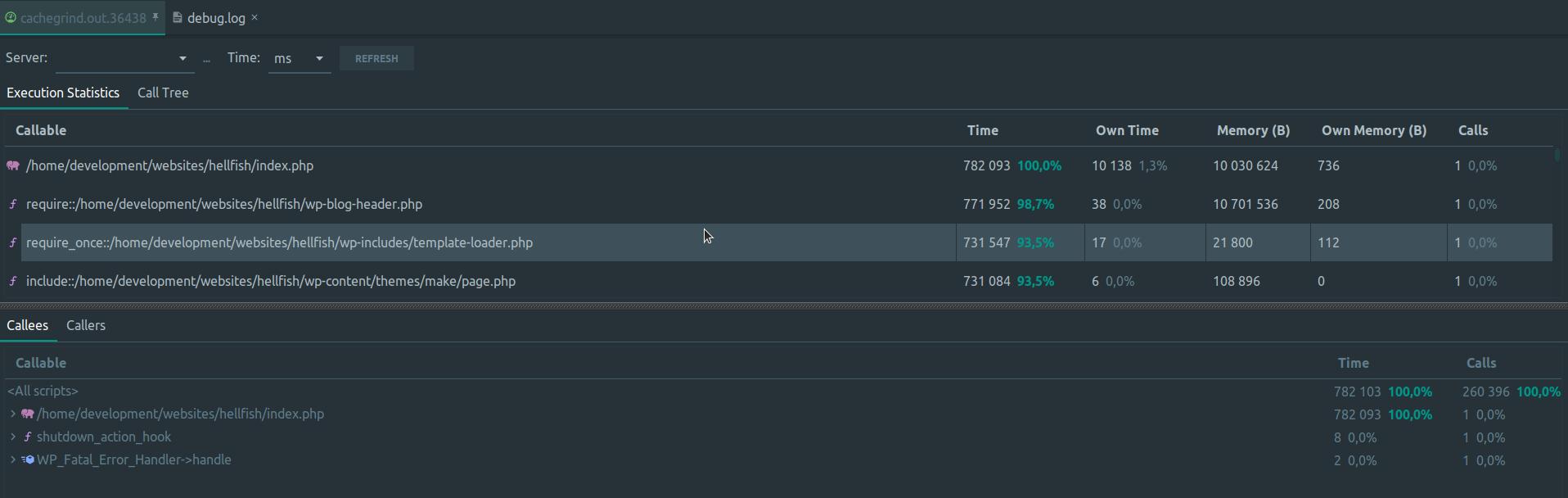 Analyzing Xdebug profile log in PhpStorm
