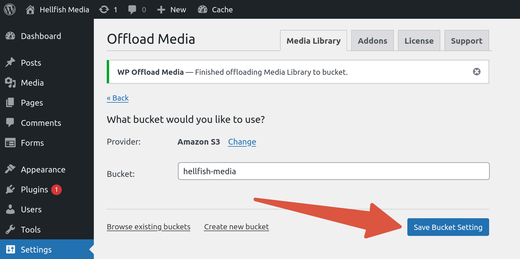 OME CloudFront Setup - Enable Block All Public Access prompt with confirmation checkbox