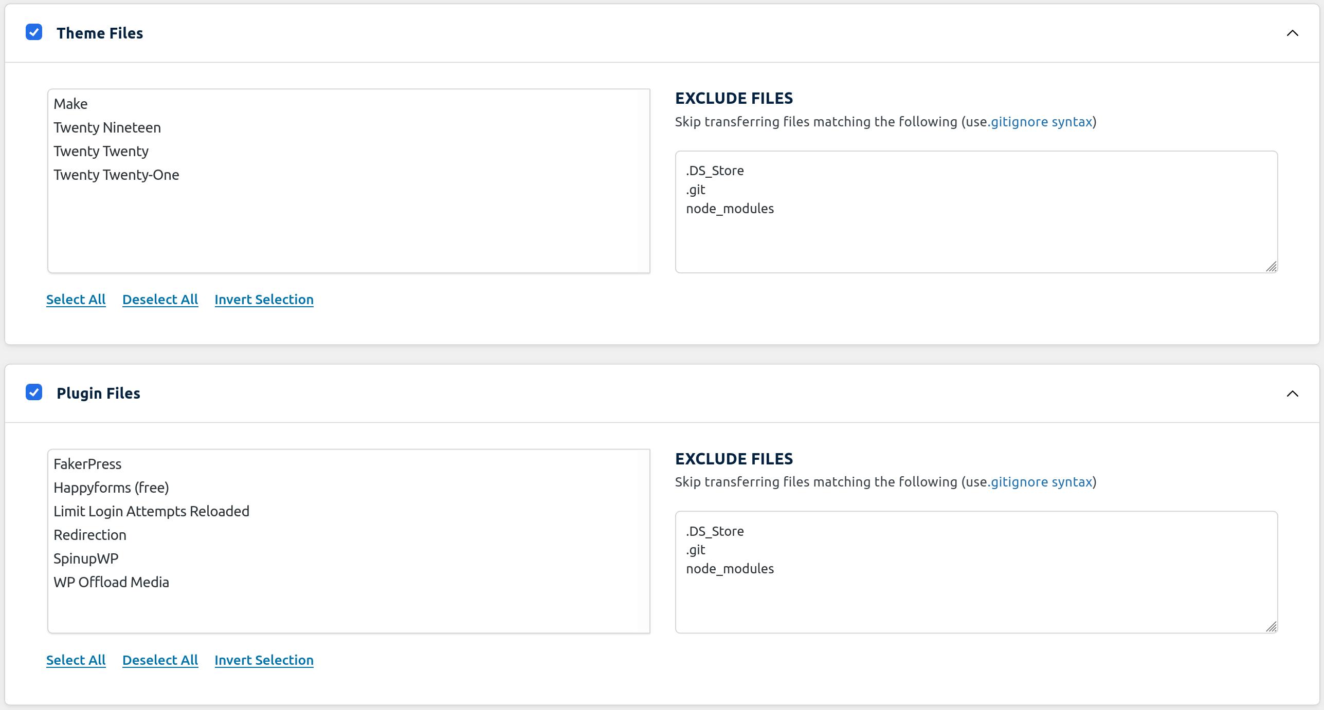 WP Migrate DB Pro Migration Theme & Plugin Files