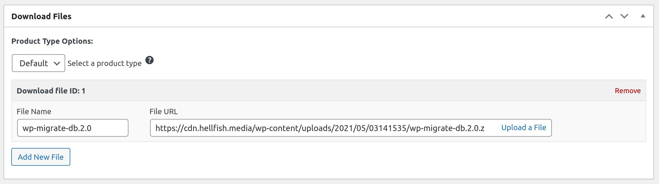Uploaded Easy Digital Downloads Download File
