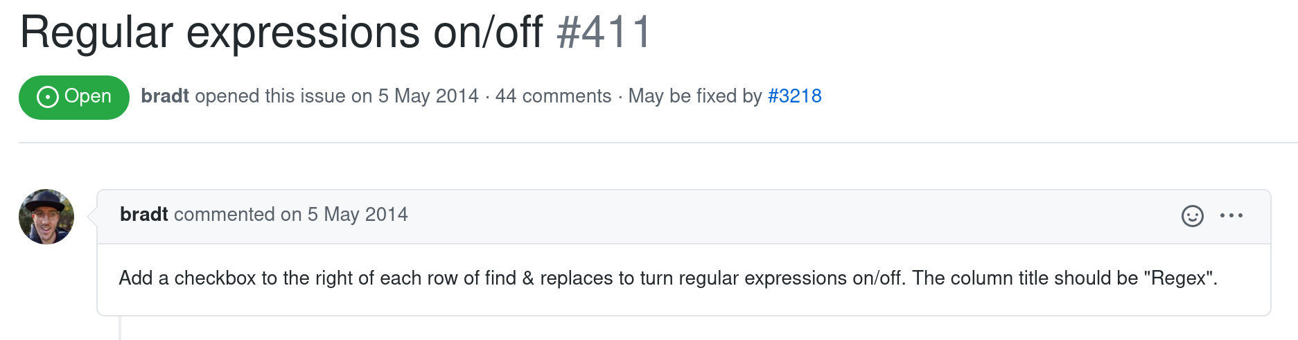 Regular Expressions Issue 411