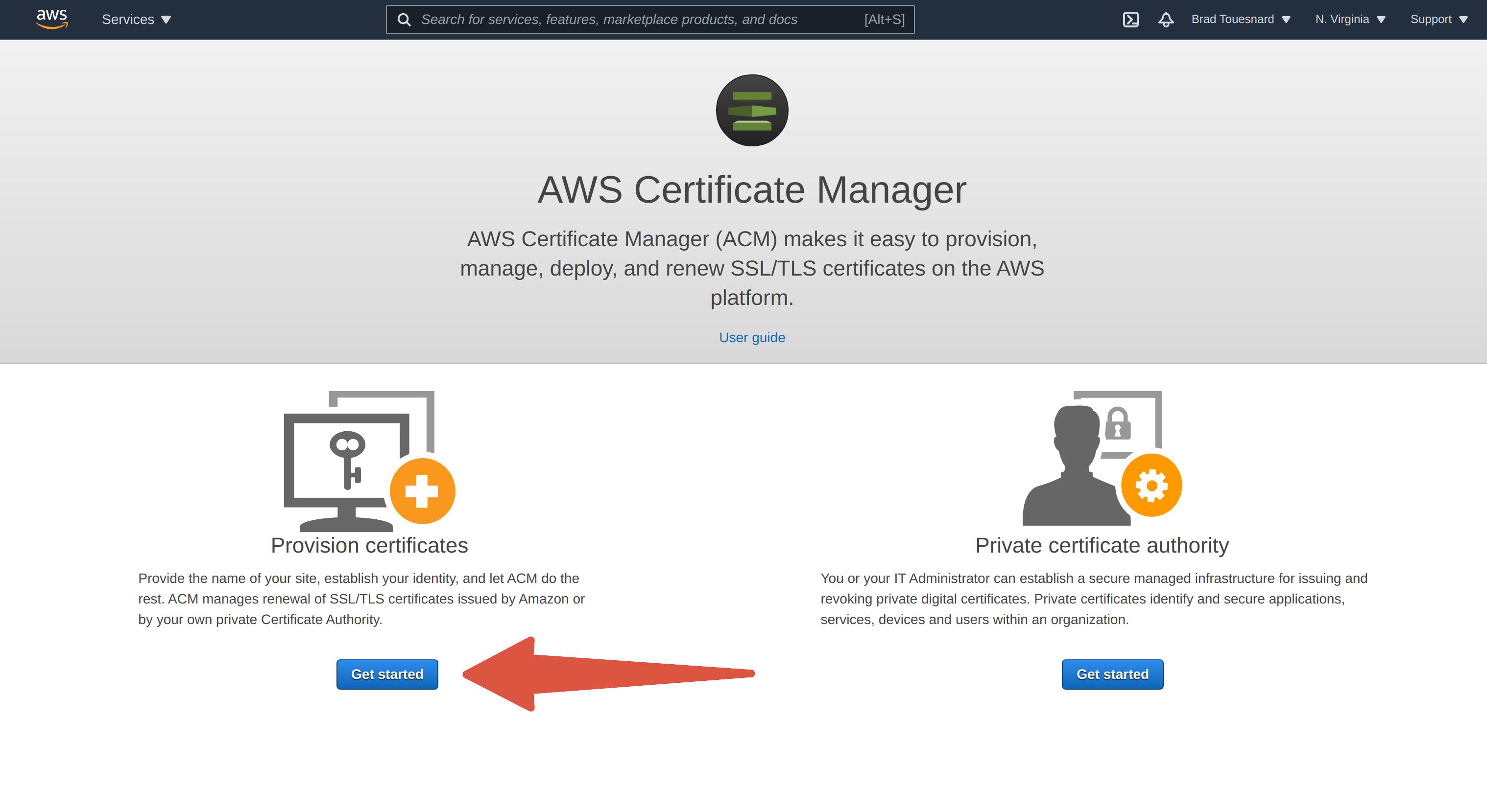 Get start5ed provisioning certificates