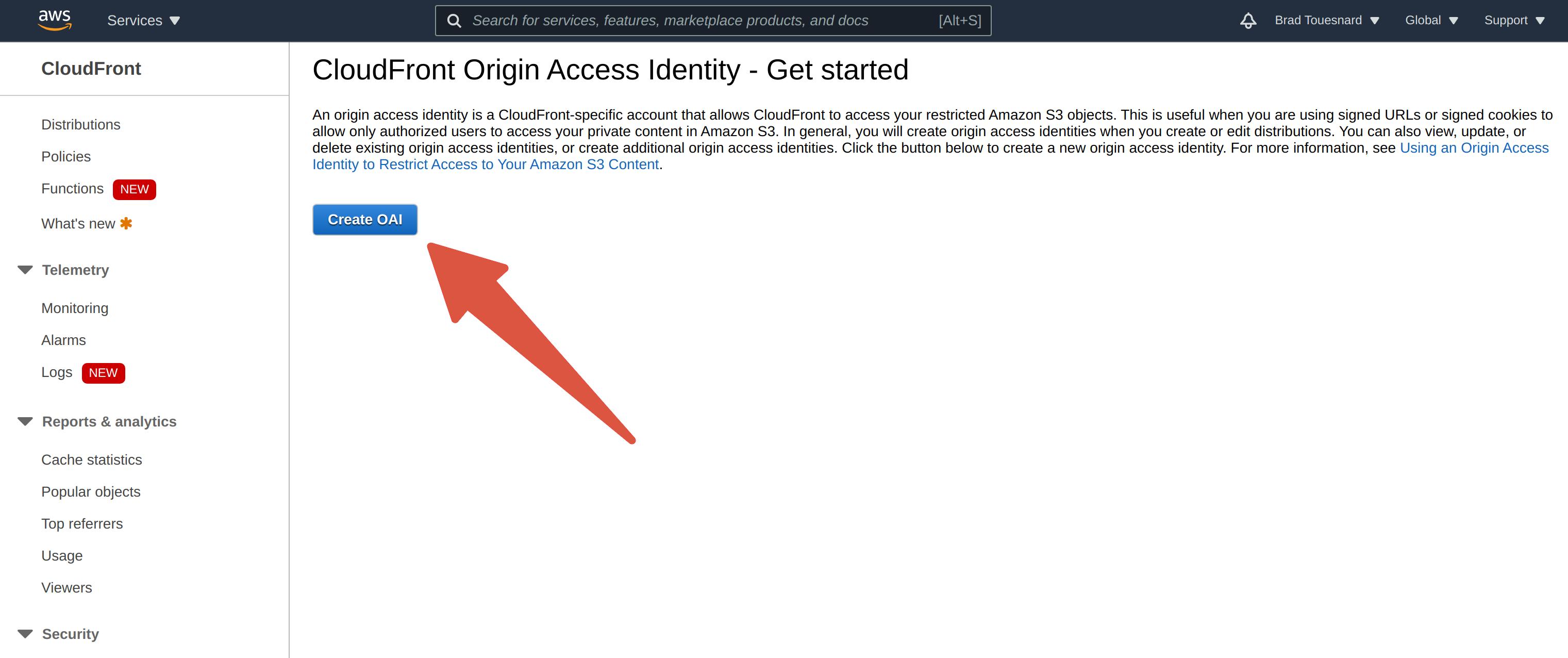 Origin Access Identity Get Started
